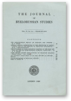 The Journal of Byelorussian Studies, Vol. IV, No. 3-4 - Years XV-XVI