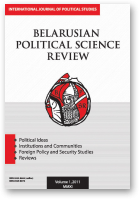 Belarusian Political Science Review, Volume 1, 2011