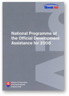 National Programme of the Official Development Assistance for 2008